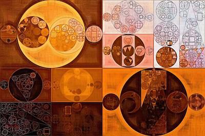 Abstract Painting - Cinnamon Print by Vitaliy Gladkiy