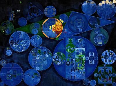 Abstract Creations Digital Art - Abstract Painting - Dark Midnight Blue by Vitaliy Gladkiy