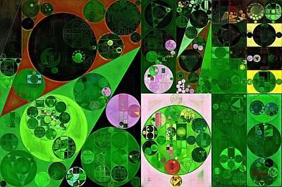 Abstract Painting - Deep Fir Print by Vitaliy Gladkiy