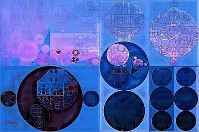 Abstract Painting - Han Blue Print by Vitaliy Gladkiy