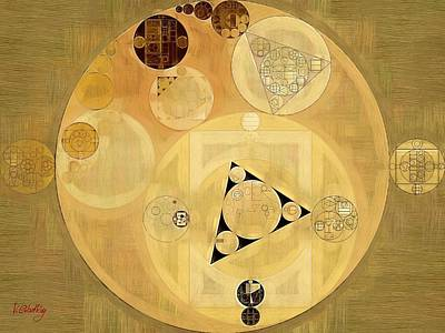 Abstract Painting - Indian Tan Print by Vitaliy Gladkiy