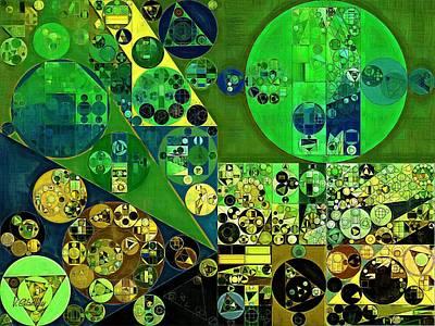 Phthalo Green Digital Art - Abstract Painting - June Bud by Vitaliy Gladkiy