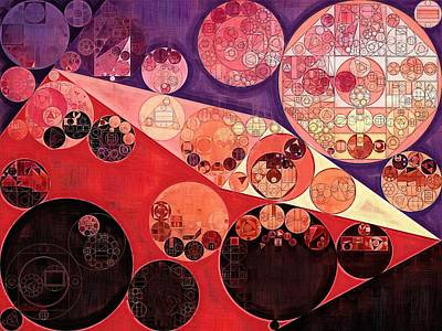 Forms Digital Art - Abstract Painting - Milano Red by Vitaliy Gladkiy