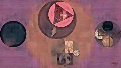 Raspberry Digital Art - Abstract Painting - Old Rose by Vitaliy Gladkiy