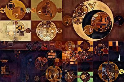 Feelings Digital Art - Abstract Painting - Russet by Vitaliy Gladkiy