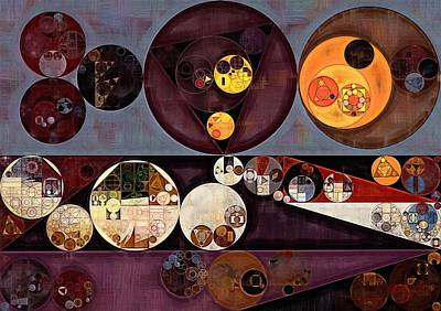 Abstract Painting - Seal Brown Print by Vitaliy Gladkiy