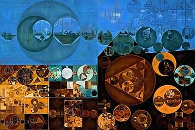 Abstract Fashion Digital Art - Abstract Painting - Tufts Blue by Vitaliy Gladkiy