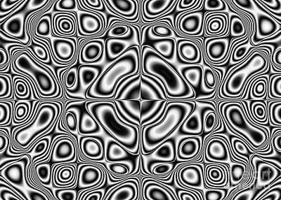 Fluttering Digital Art - Abstract Pattern - Kaleidoscopic Pattern by Michal Boubin