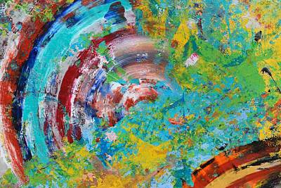 Vivid Colour Painting - Abstract Spin by Sumit Mehndiratta
