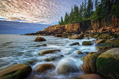 Incoming Tide Photograph - Acadia by Rick Berk