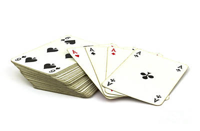 Playing Cards Photograph - Ace Card by Blink Images