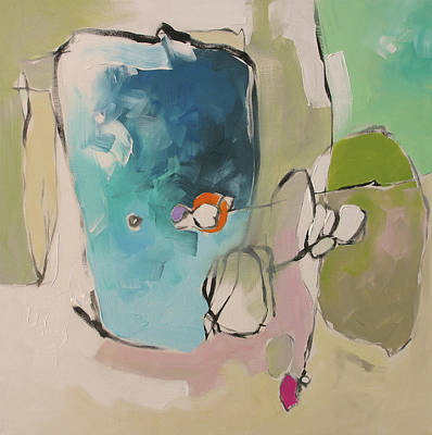 Award Winning Artist Painting - Across The Pond by Linda Monfort