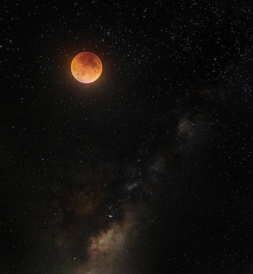 Moon Photograph - Across The Universe by Bill Wakeley