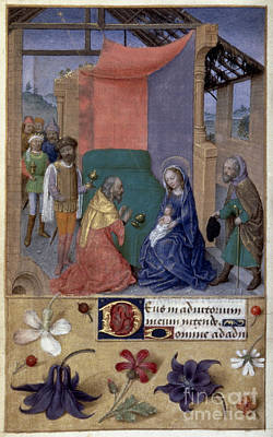 Adoration Of Magi Print by Granger
