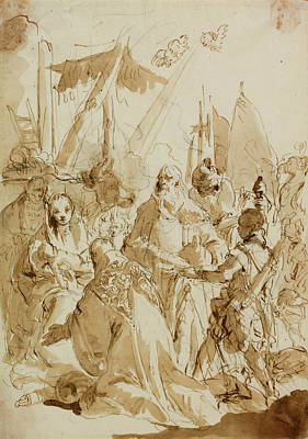 Christianity Drawing - Adoration Of The Magi by Giovanni Battista Tiepolo
