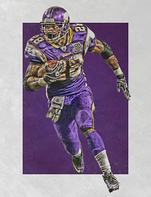 Peterson Mixed Media - Adrian Peterson Minnesota Vikings Art by Joe Hamilton