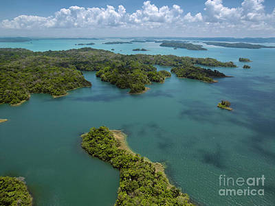 Transportation Photograph -  Aerial View Of Panama Canal On The Atlantic Side by Dani Prints and Images