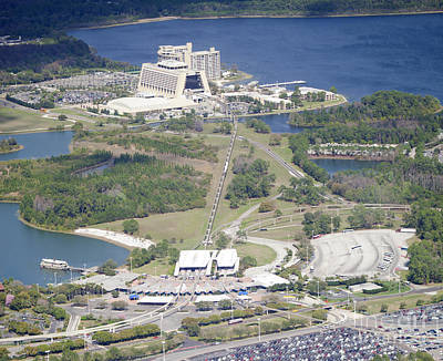 Aeriel View Photograph - Aeriel View Of Disney's Contemporary Resort by Anthony Totah