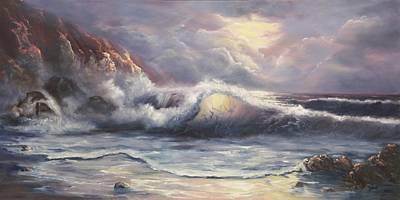 Seascape Painting - After The Storm by Joni McPherson