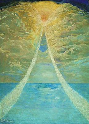 Holy Spirit Painting - After The Whirlwind by Nigel Wynter