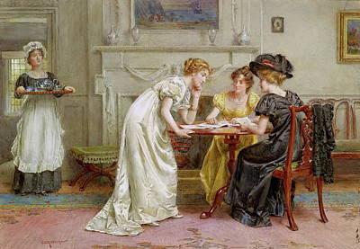 Afternoon Tea Print by George Goodwin Kilburne