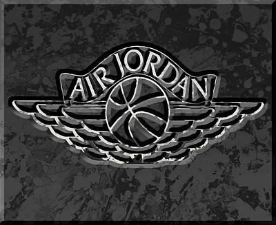 Sneakers Mixed Media - Air Jordan 4e by Brian Reaves