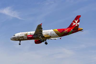Maltese Photograph - Air Malta Airbus A320 by David Pyatt