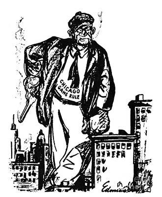 Al Capone Cartoon, 1930 Print by Granger