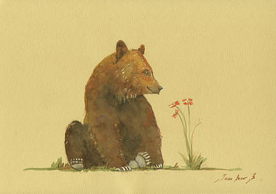 Alaskan Grizzly Bear Print by Juan Bosco
