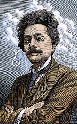 Albert Einstein, Physicist Print by Bill Sanderson