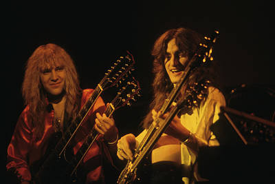 Geddy Photograph - Alex Lifeson And Geddy Lee by Rich Fuscia