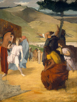 Alexander The Great Painting - Alexander And Bucephalus by Edgar Degas