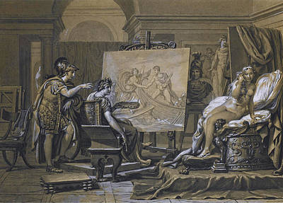 Drawing - Alexander Apelles And Campaspe by Jacques-Louis David