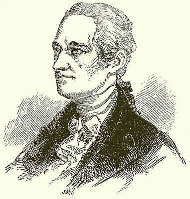 Alexander Hamilton Print by English School