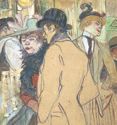 Boa Constrictor Drawing - Alfred La Guigne by Henri de Toulouse-Lautrec