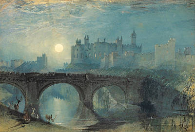 Architecture Painting - Alnwick Castle by JMW Turner