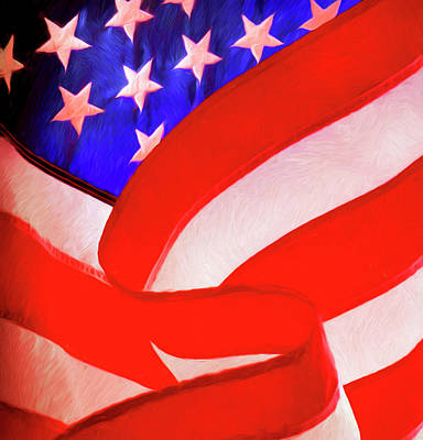 American Flag Print by George Robinson