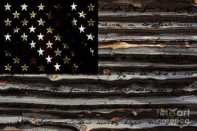 Stars And Stripes Mixed Media - American Flag by Marvin Blaine