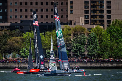 Water Skippers Photograph - America's Cup World Series New York by Susan Candelario