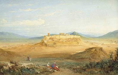 An Extensive View Of The Acropolis And Athens Print by Hugh William