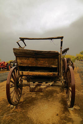An Old Wagon Print by Jeff Swan