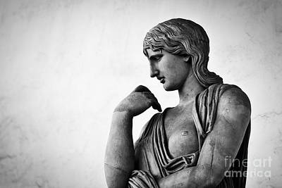 Vintage Photograph - Ancient Sculpture Florence, Italy by Michal Bednarek