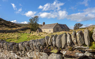 Cemetary Photograph - Ancient Welsh Church by Adrian Evans