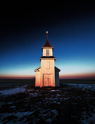 Steeple Photograph - And There Was Light by Todd Klassy