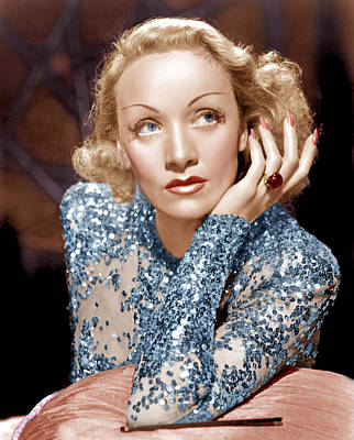 Sequin Photograph - Angel, Marlene Dietrich, 1937 by Everett