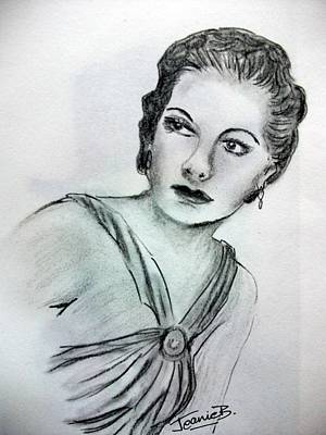 Icon Drawing - Ann Sheridan by Jean Billsdon