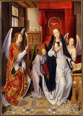 Religious Art Painting - Annunciation by Hans Memling