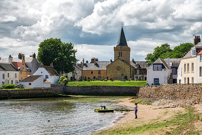 Anstruther Photograph - Anstruther Harbour In Fife by Jeremy Lavender Photography