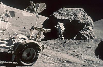Apollo 17, December 1972: Print by Granger