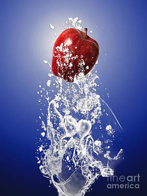 Apple Mixed Media - Apple Splash by Marvin Blaine
